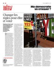 Journal Libération du 21 mars 2016